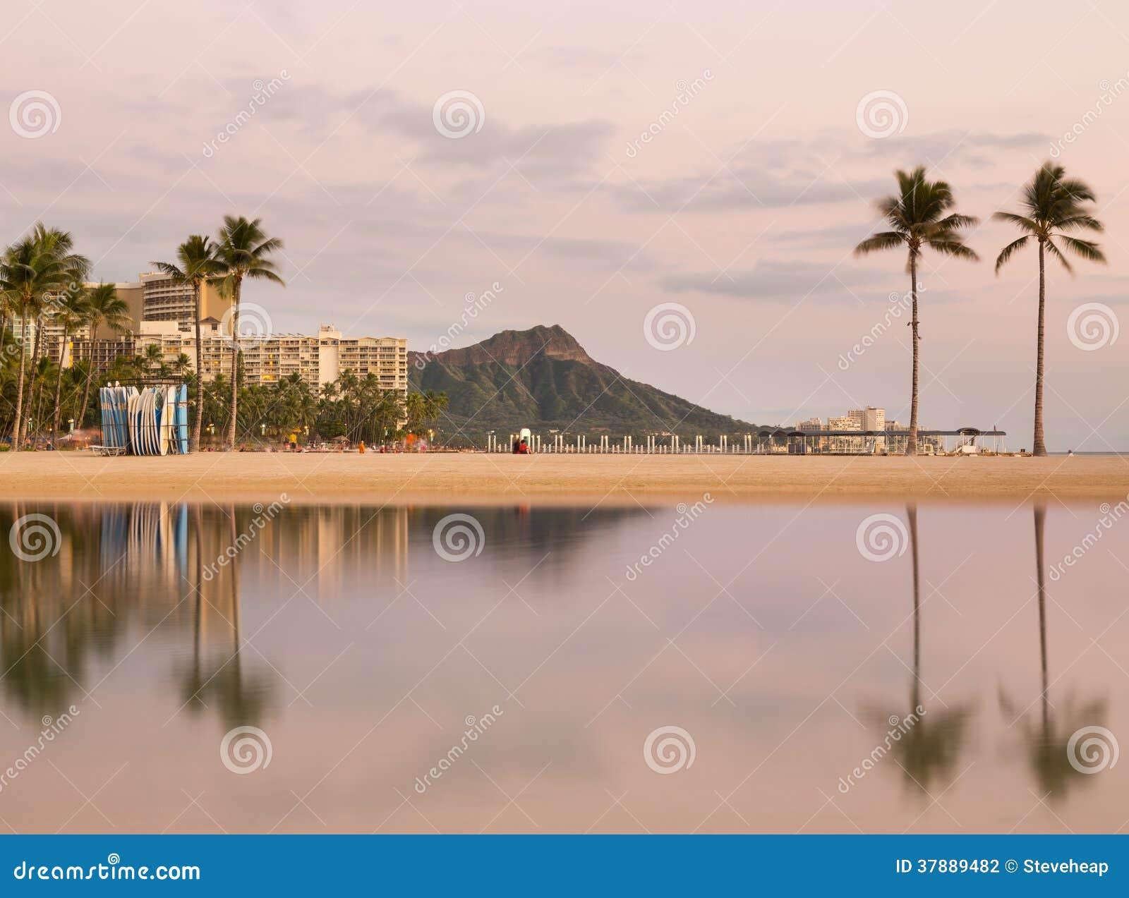 Panorama van Waikiki Oahu Hawaï