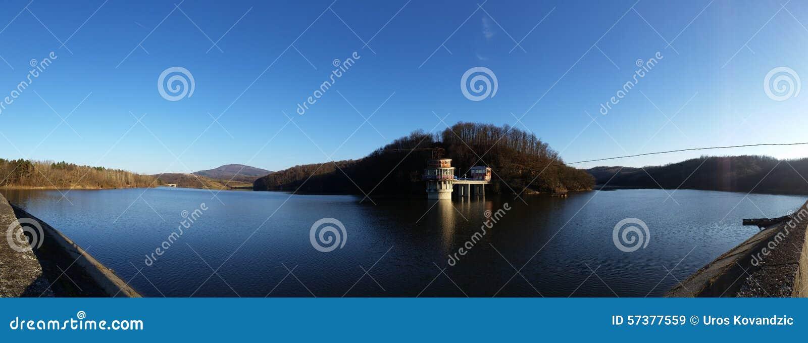 Panorama van weinig meer