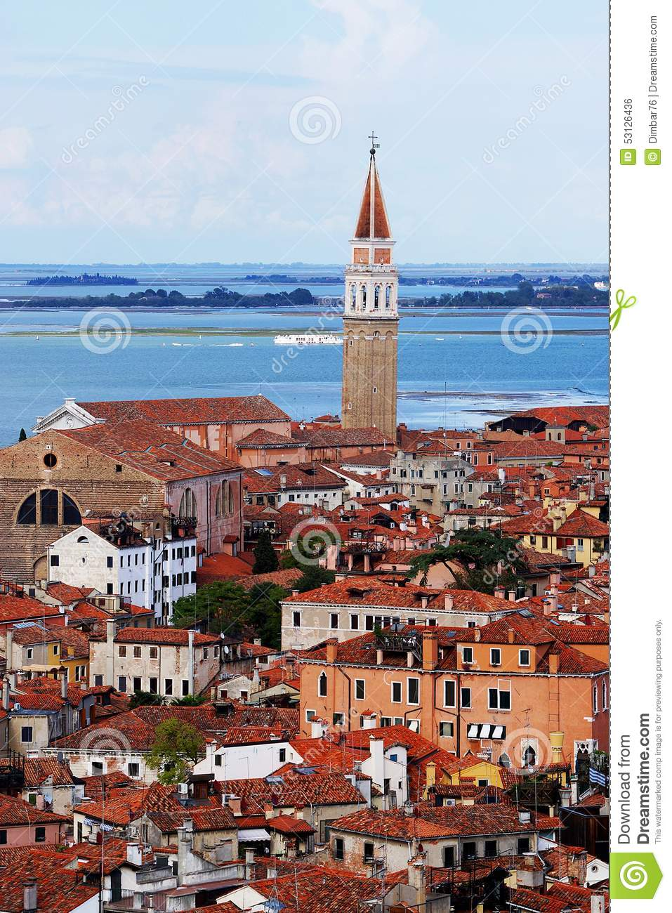 Panorama of Venice in Italy