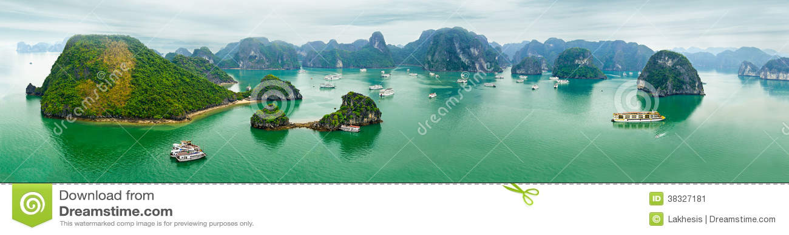 Panorama view of Ha Long Bay, Vietnam