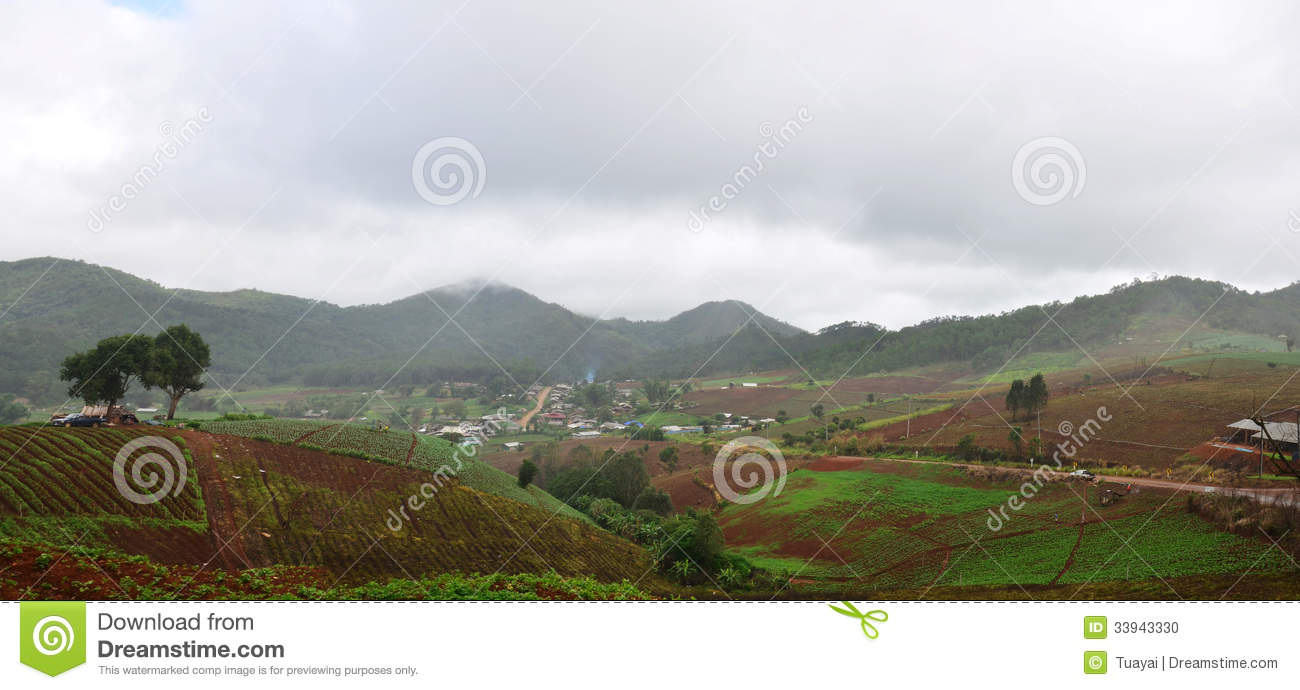 Panorama View point at, Mae Hong Son Province of North Thailand