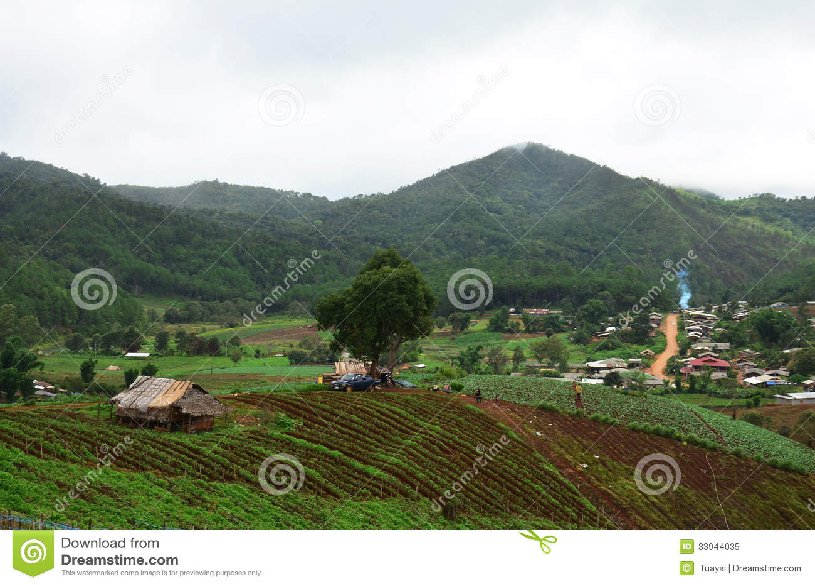 Panorama View point at, Mae Hong Son Province of North Thailand