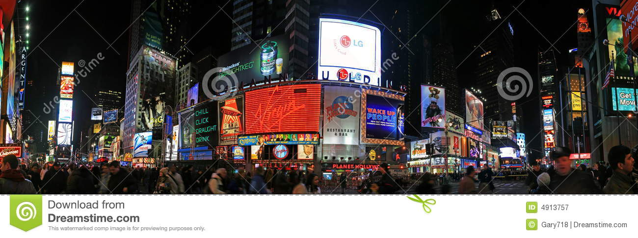 Panorama view of Times Square