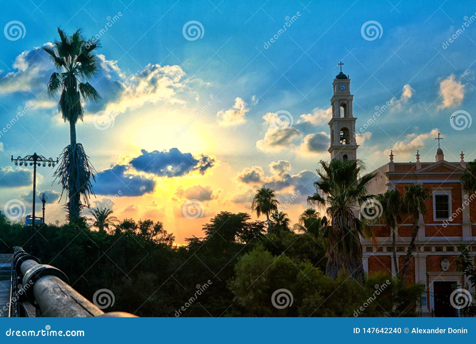 Panorama von altem Jaffa