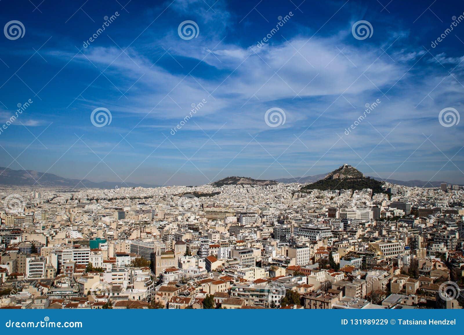 Panorama von Athen von der Akropolise