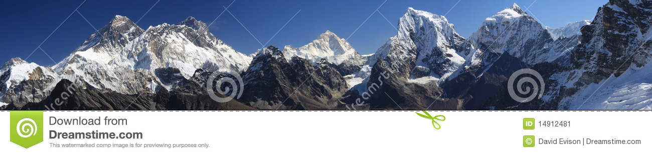 Panorama von Everest