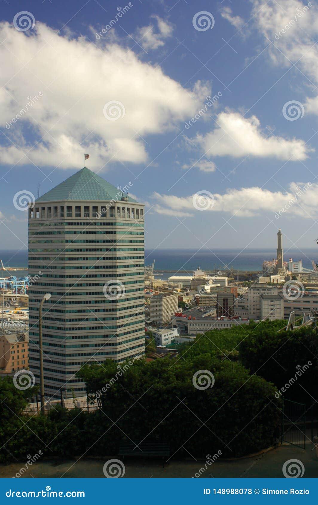 Panorama von Genua