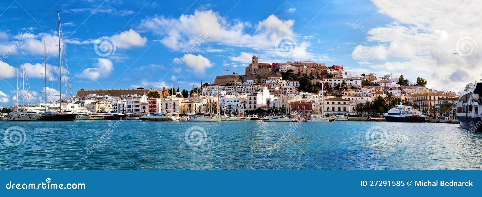 Panorama von Ibiza, Spanien