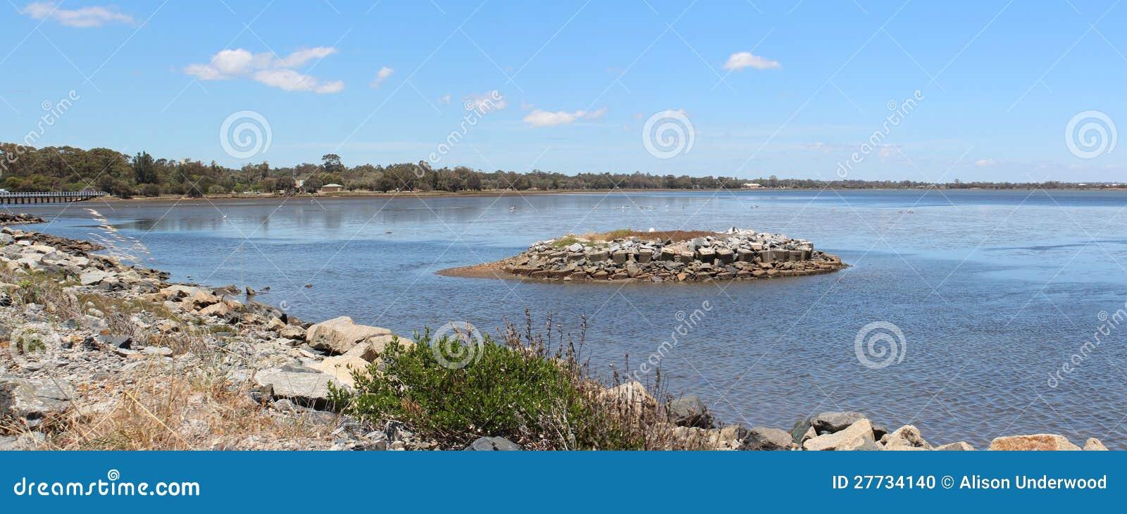 Panorama von Leschenault Mündung Bunbury WestAust