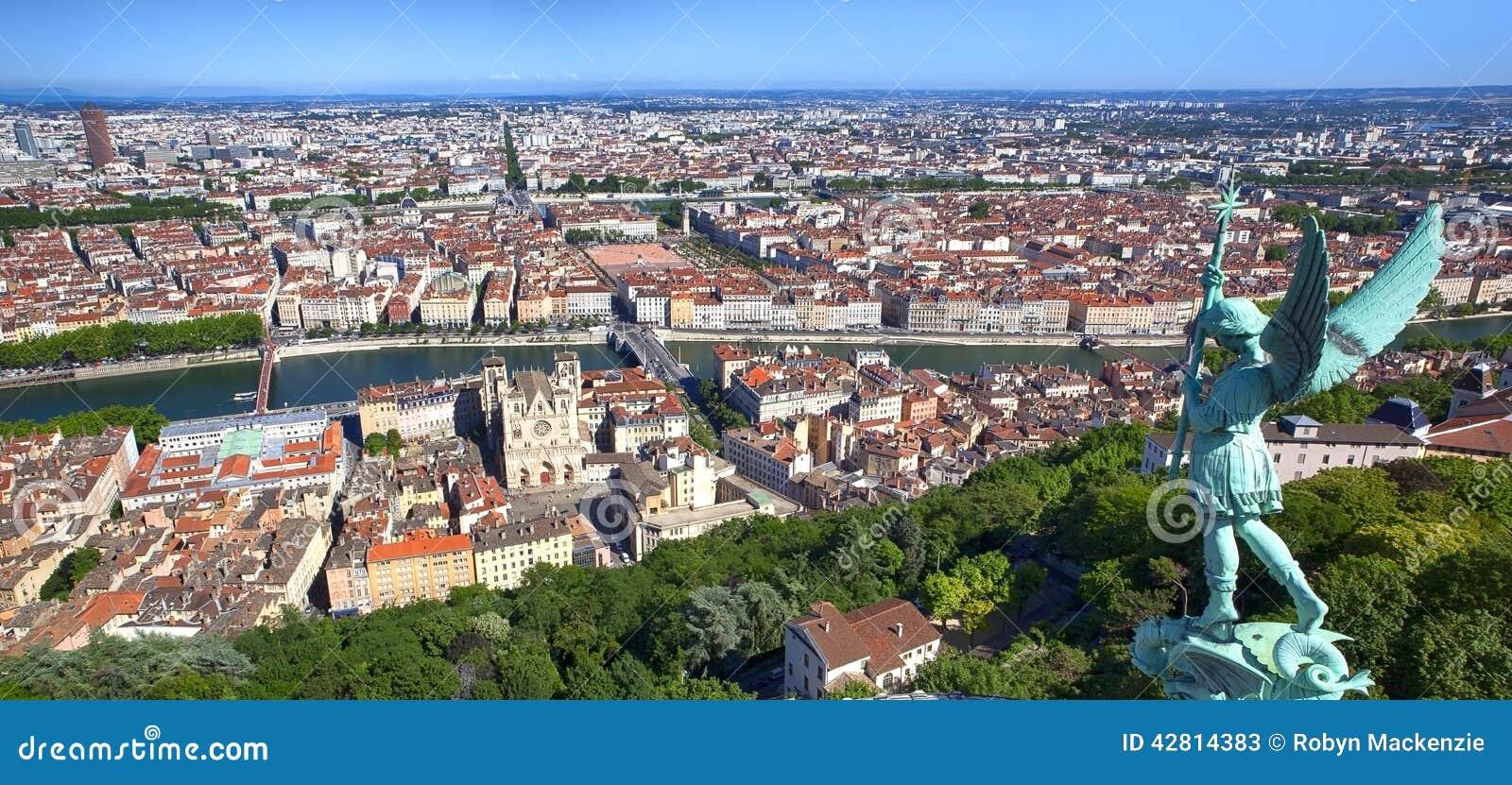 Panorama von Lyon Frankreich