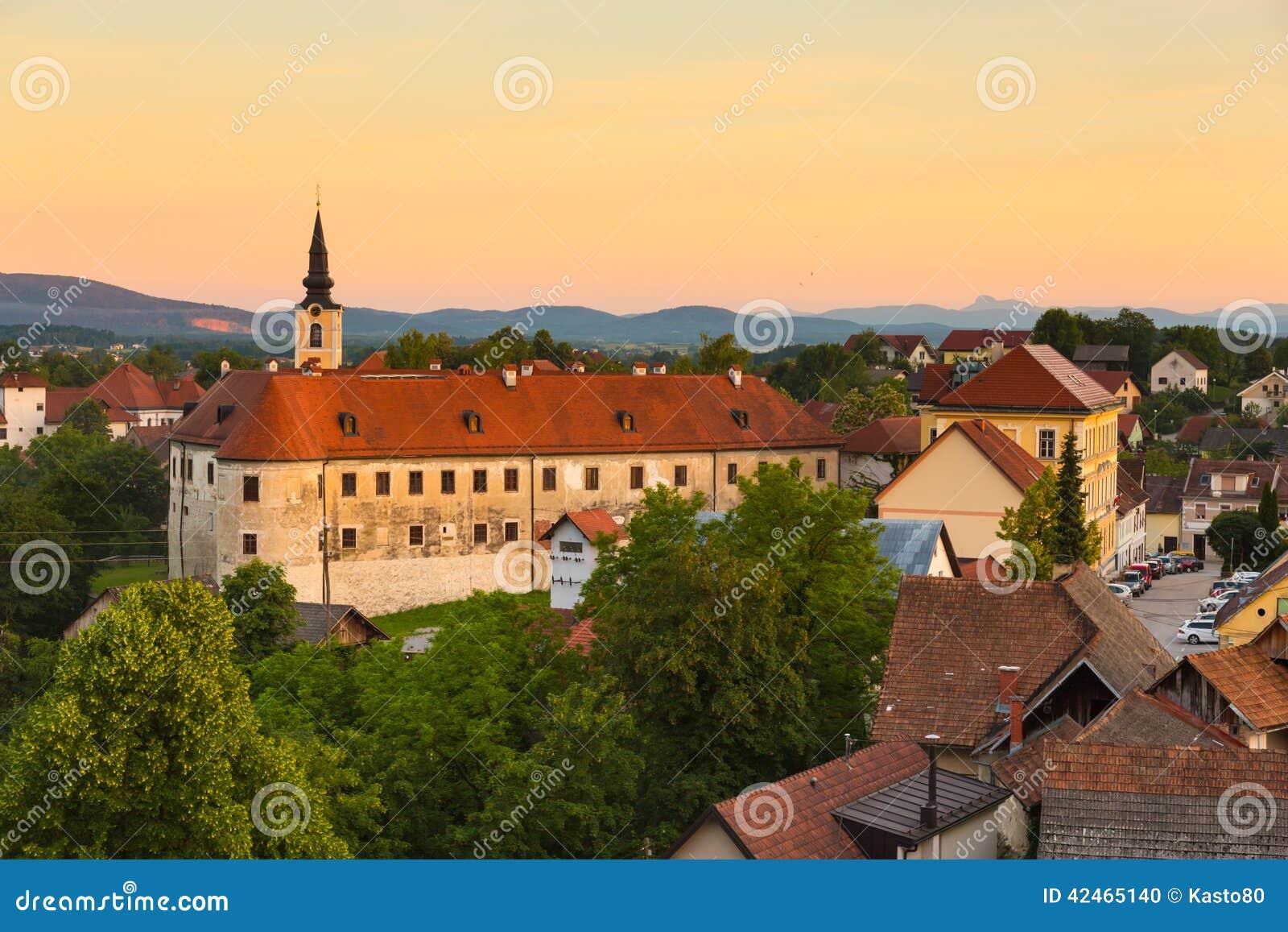 Panorama von Metlika, Slowenien, Europa