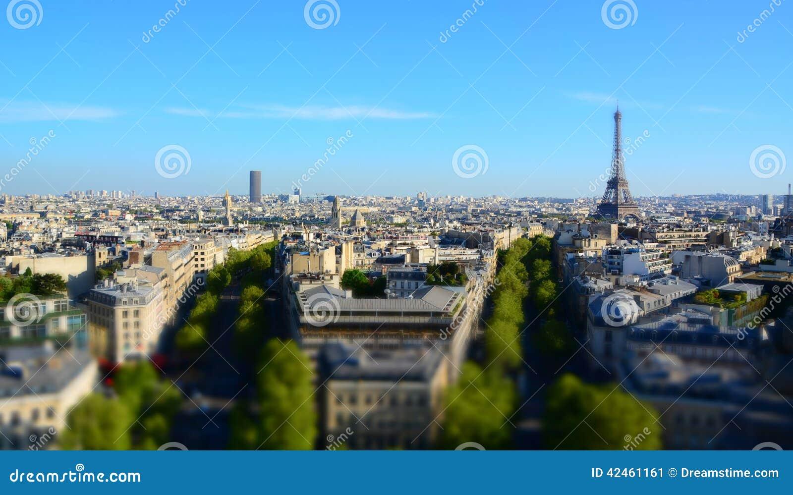 Panorama von Paris von Triumph