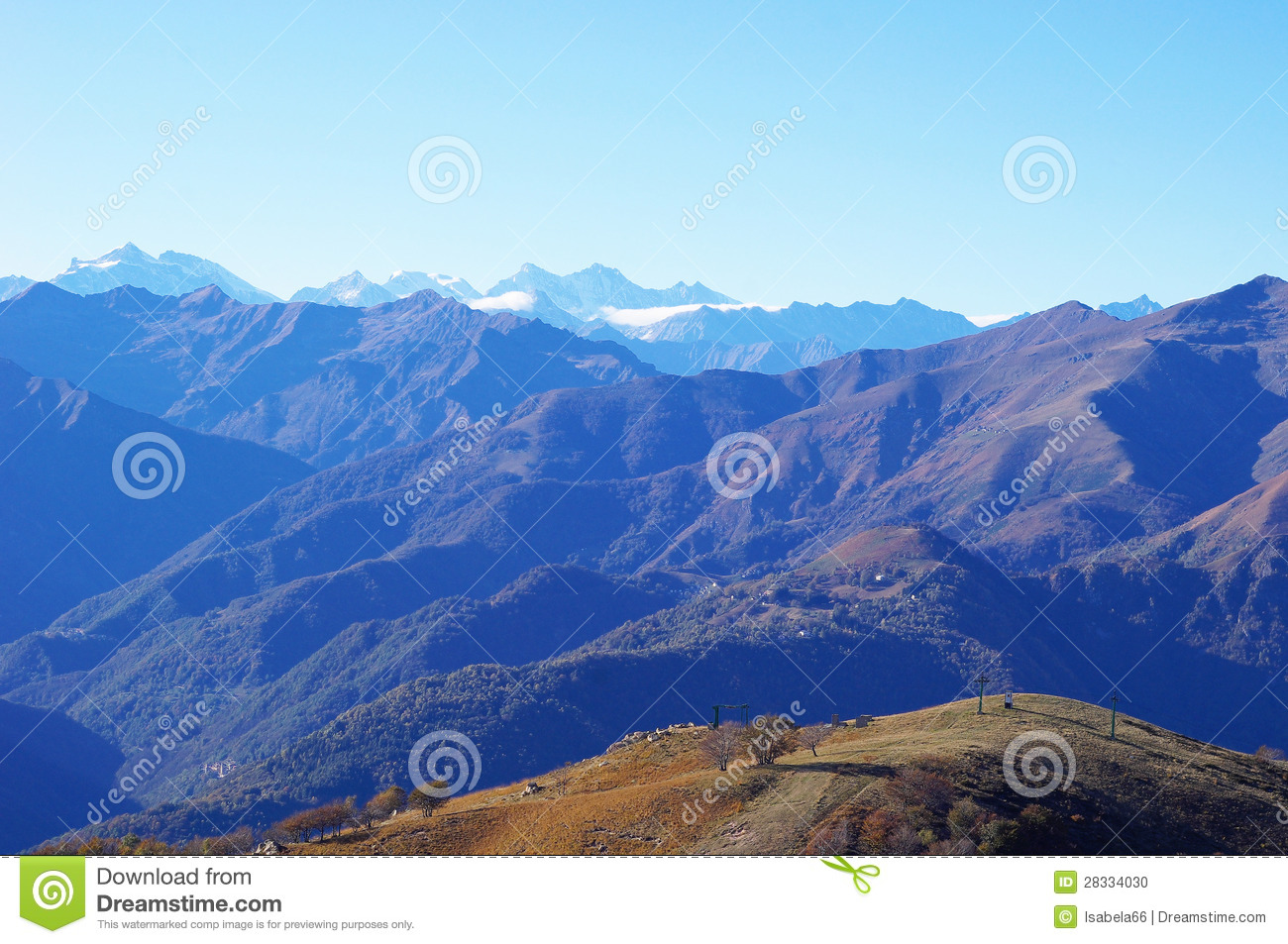 Download Panorama Of Western Alps And Northern Italy Stock Photo - Image of panorama, town: 28334030