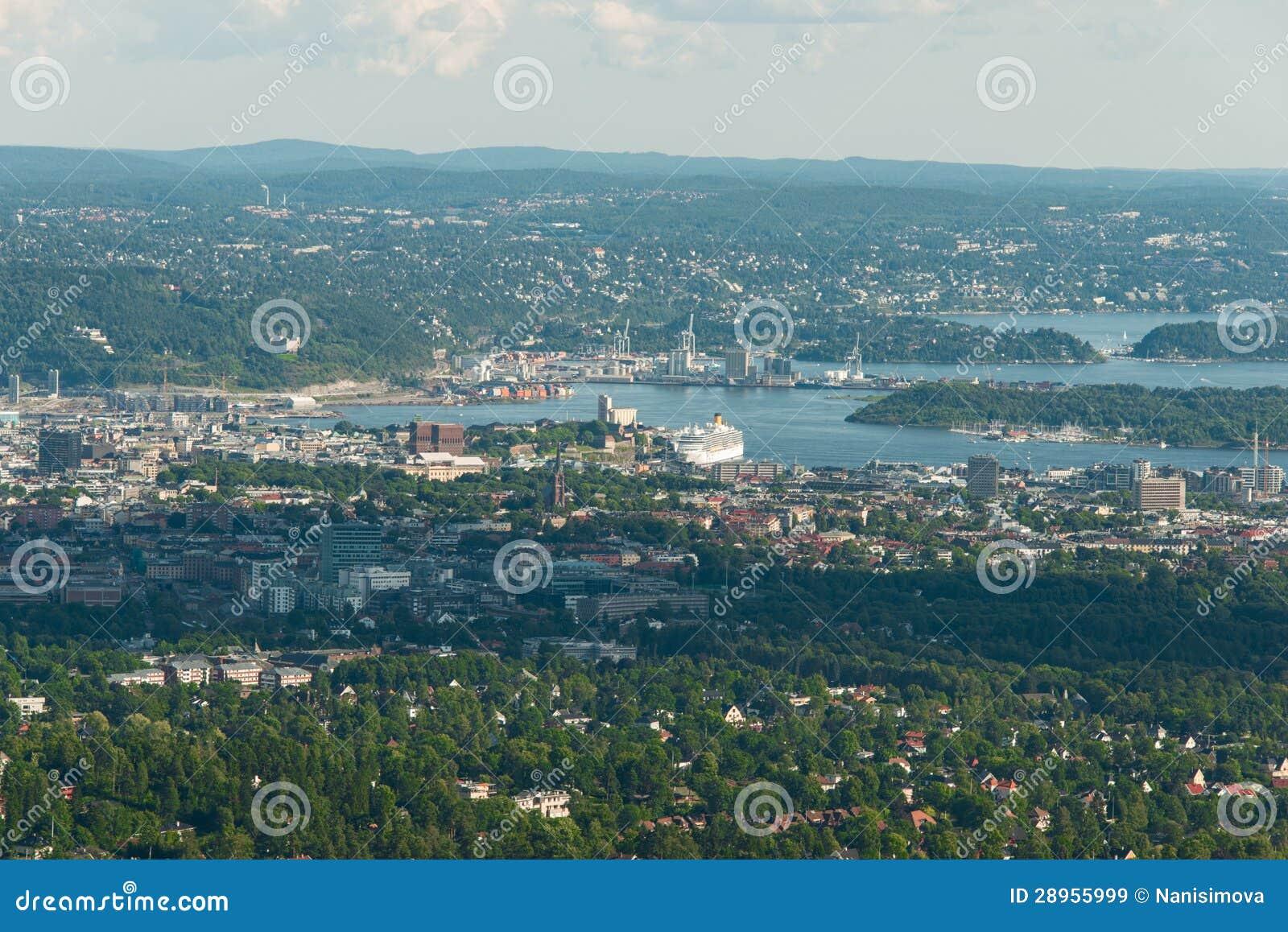 Panorama widok Oslo
