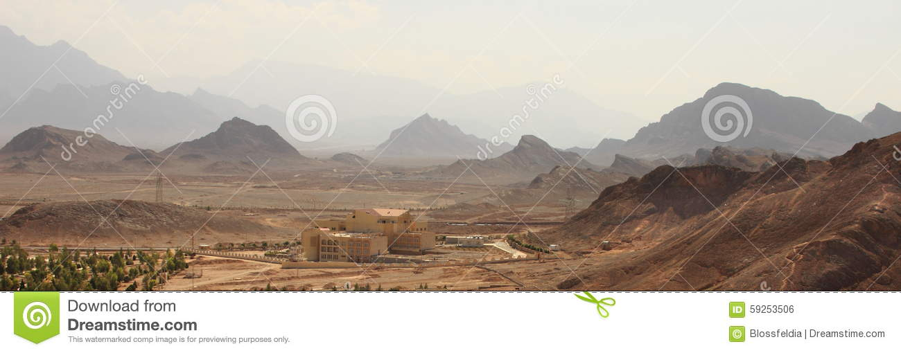 Panorama of the Yazd province, Iran.
