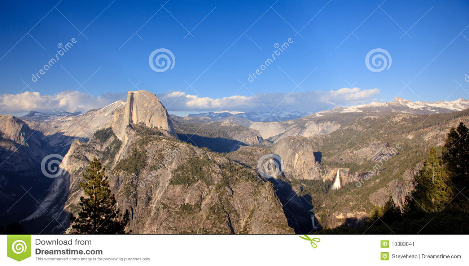 Panorama of Yosemite with Half Dome