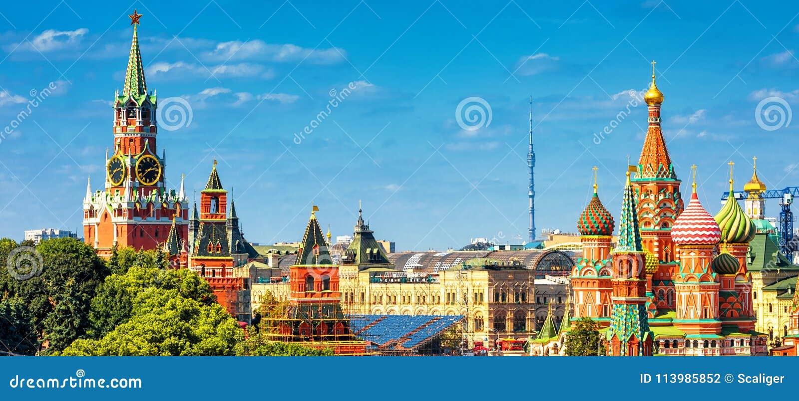 Panoramablick des Roten Platzes in Moskau, Russland
