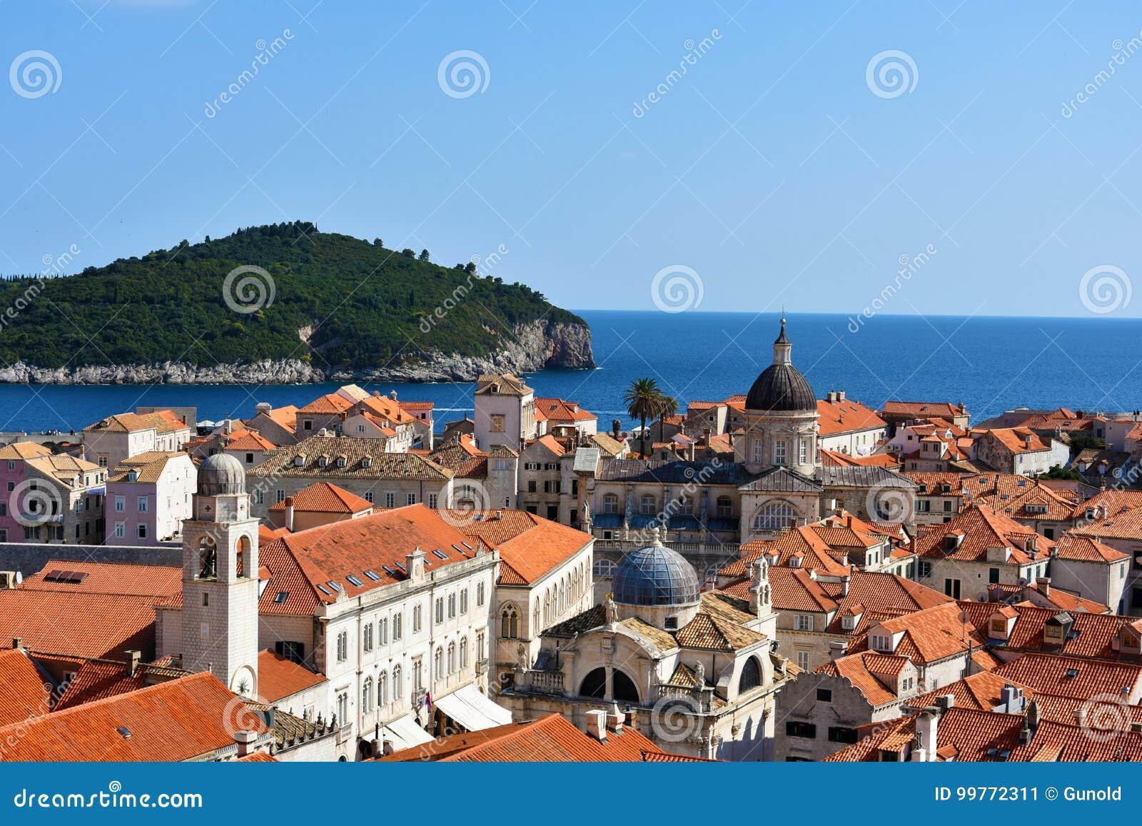 Panoramablick Dubrovnik und Lokrum