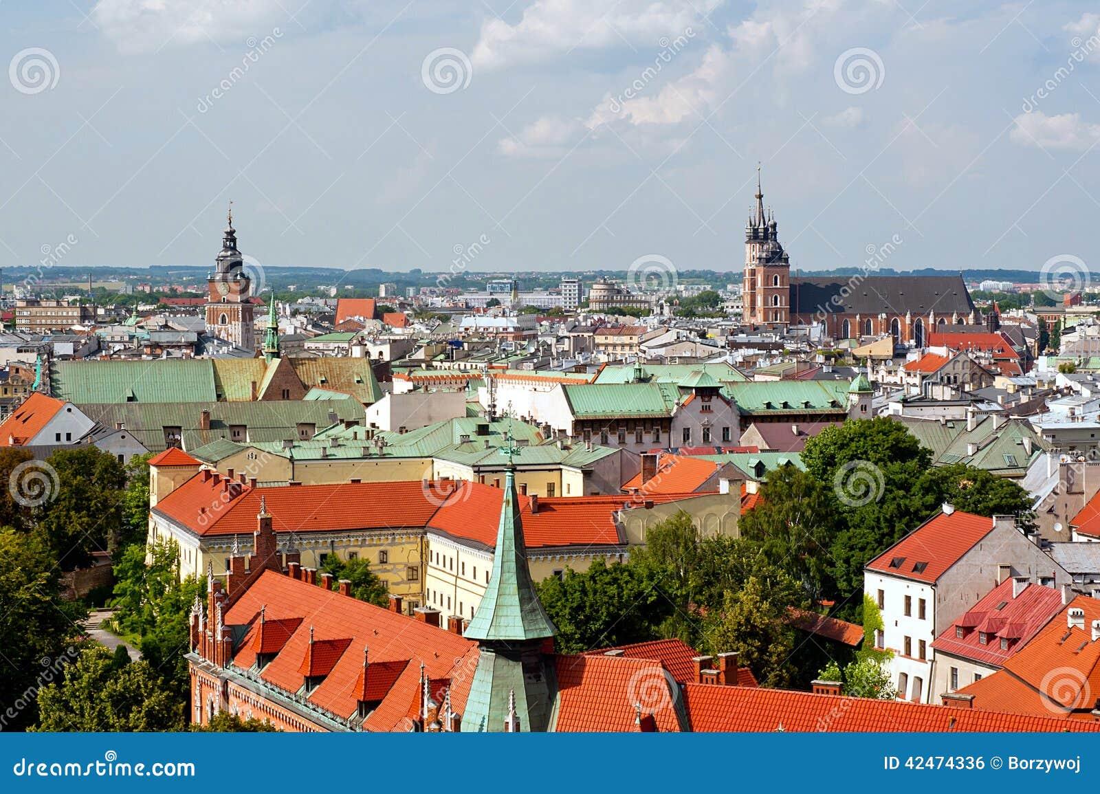 Panoramablick von Krakau