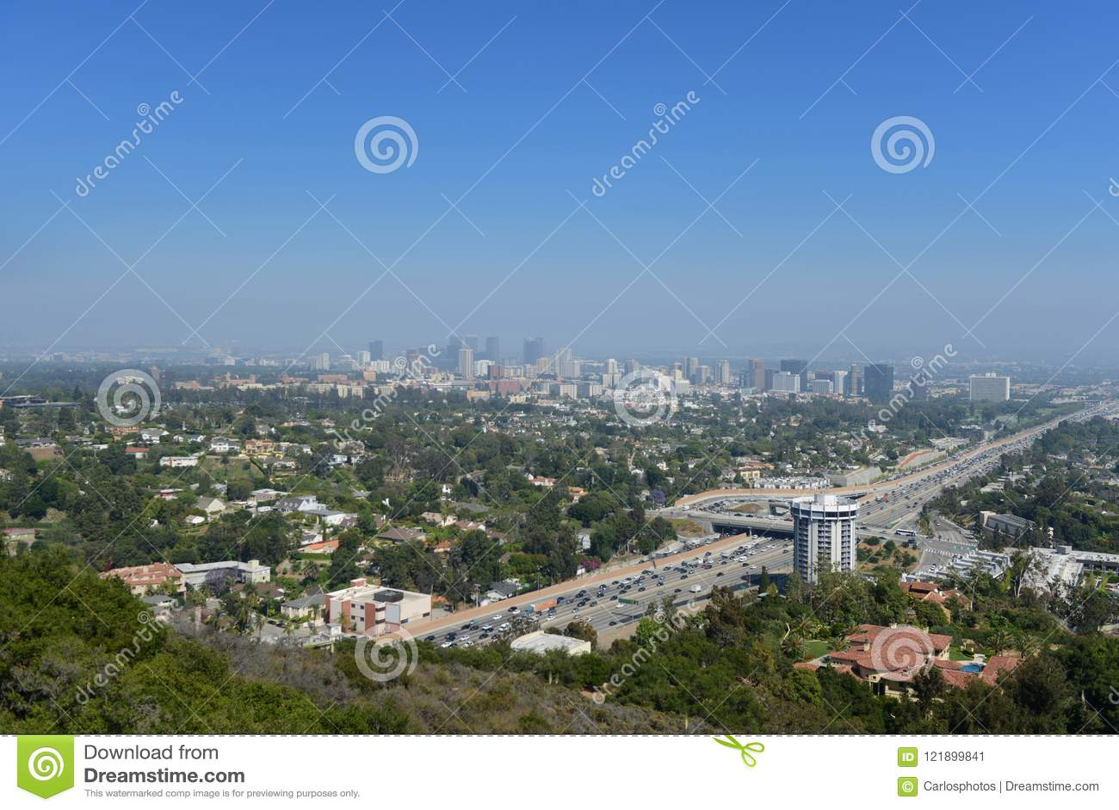 Panoramablick von Los Angeles