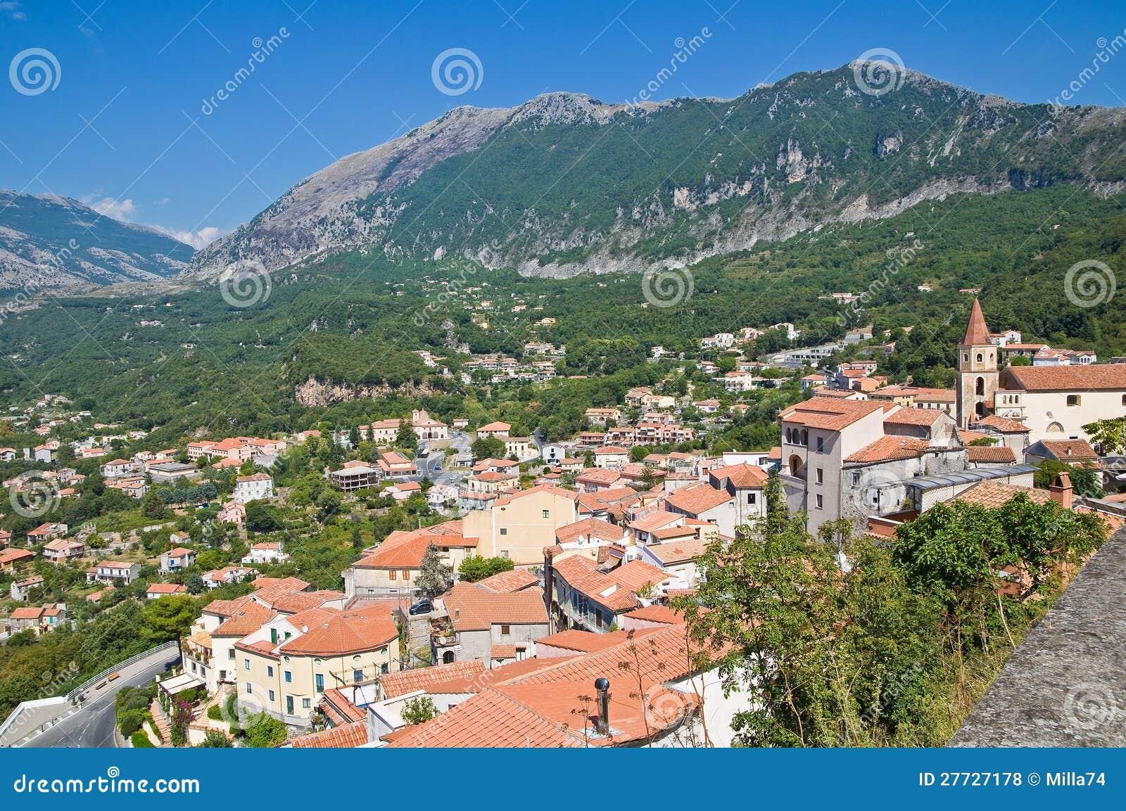 Panoramablick von Maratea. Basilikata. Italien.