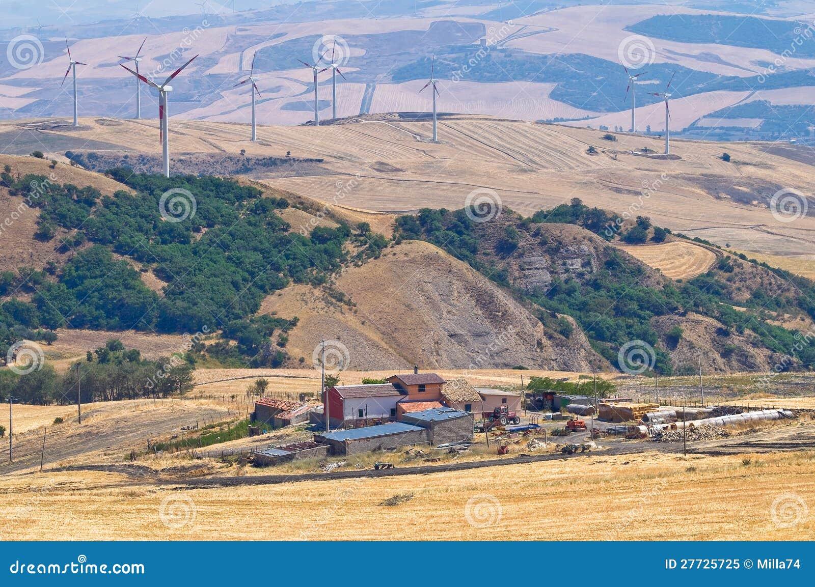 Panoramablick von SantAgata-Di Puglia. Puglia. Ita