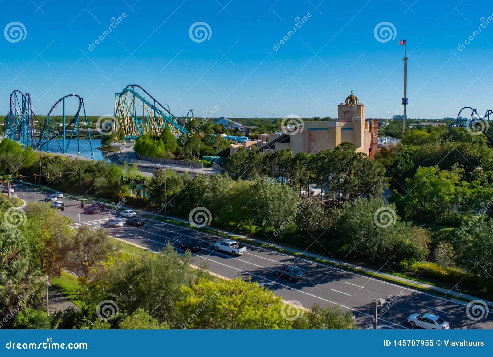Panoramablick von Seaworld-Freizeitpark in internationalem Antriebsbereich 1