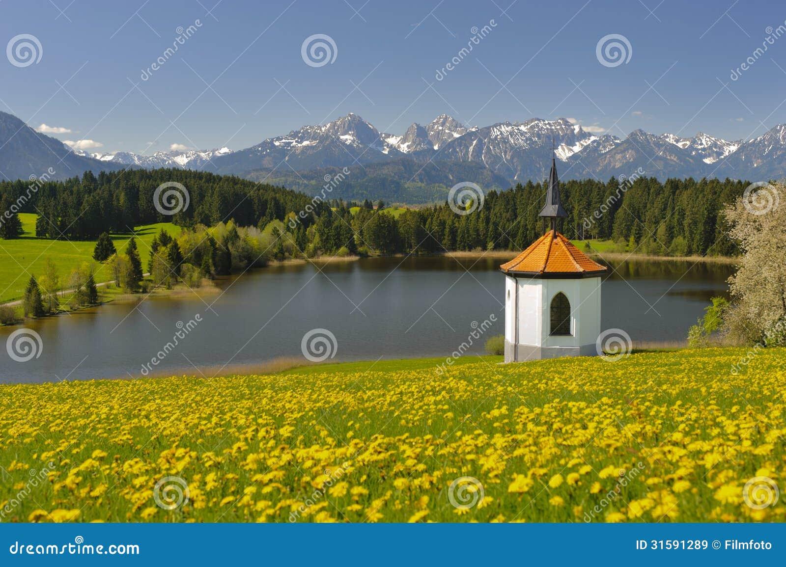 Panoramalandschaft im Bayern
