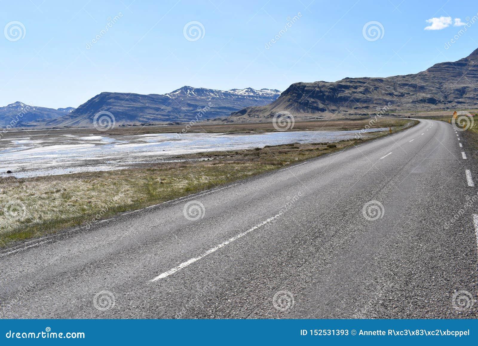 Panoramamening bij de Vestrahorn-Bergen in het zuidoosten van IJsland