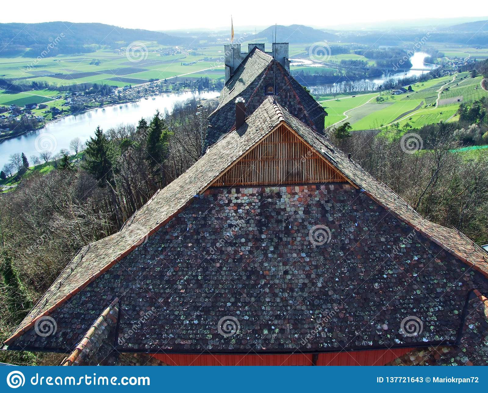 Panoramas from the viewpoint at Hohenklingen Castle, Stein am Rhein