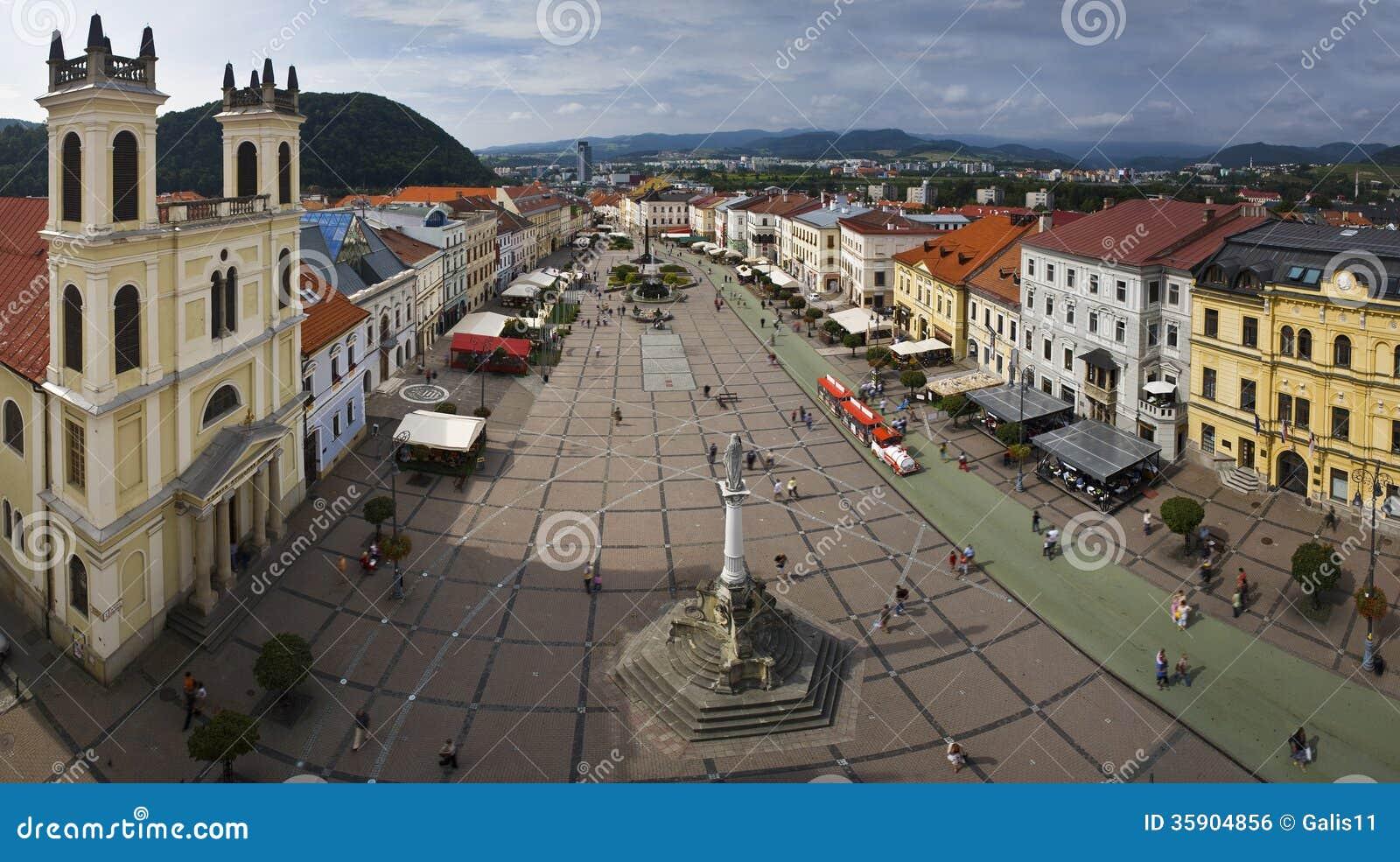 Panoramasikt av Banska Bystrica.