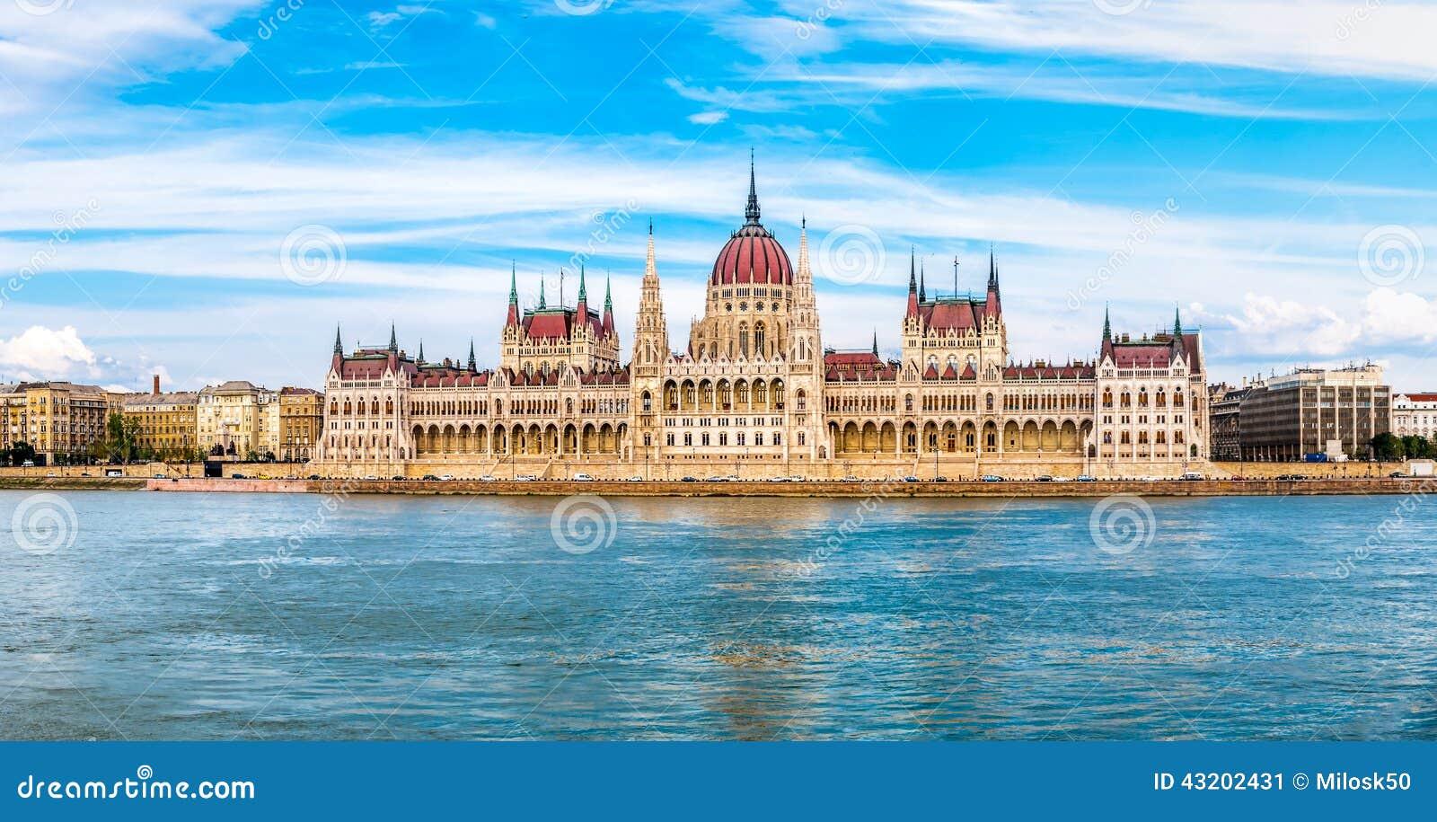Download Panoramasikt På Parlamentet I Budapest Fotografering för Bildbyråer - Bild av parlament, fotvandra: 43202431