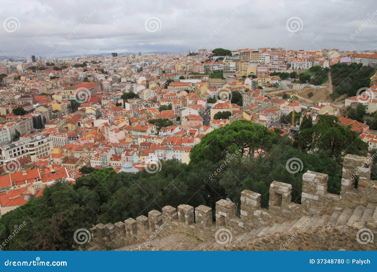 Panoramautsikt av Lissabon