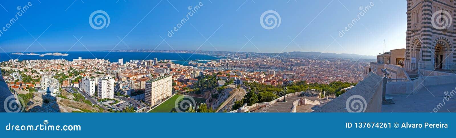 Panoramautsikt av Marseille - Frankrike