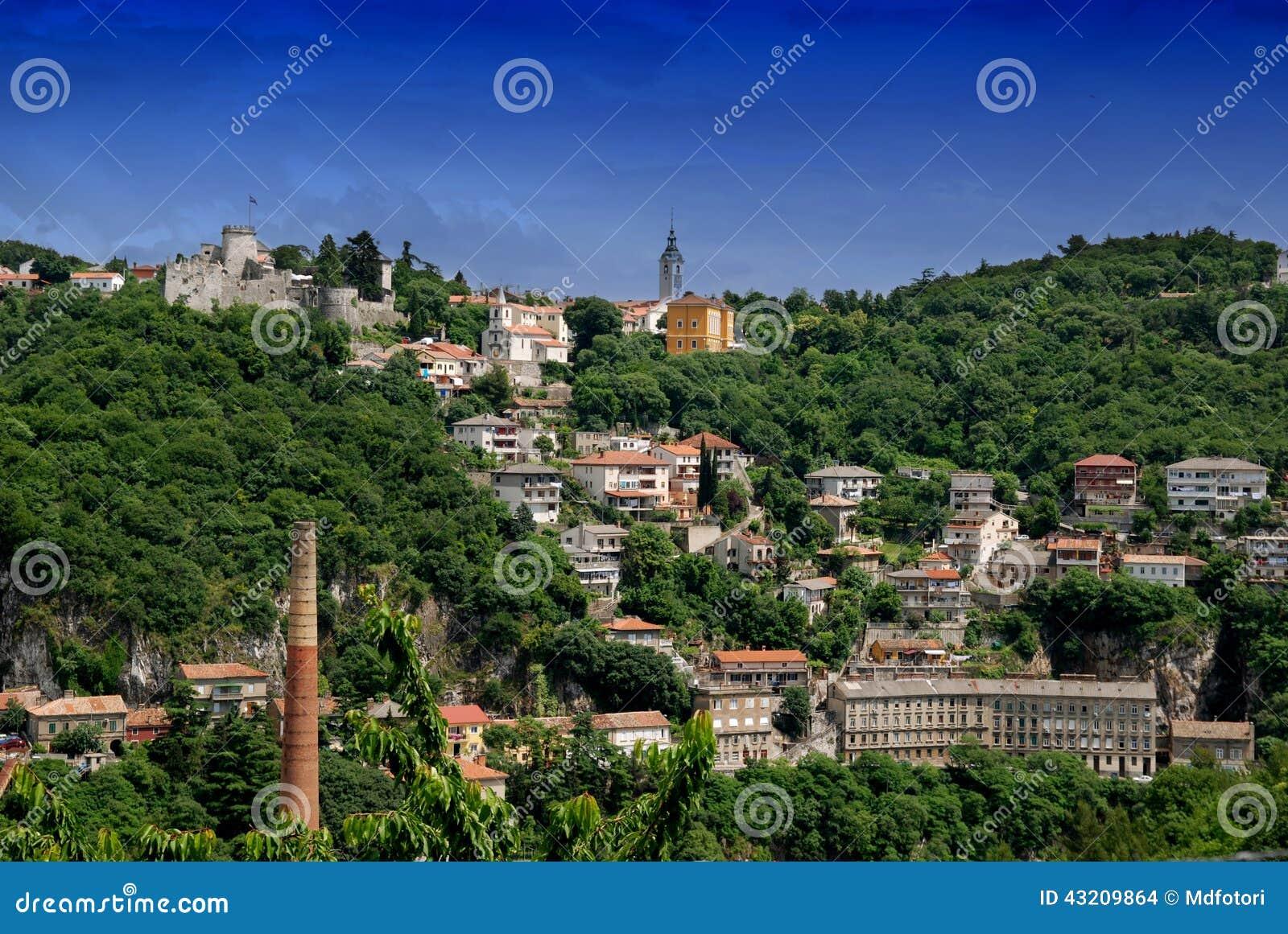 Download Panoramautsikt Av Rijeka, Kroatien Arkivfoto - Bild av stad, fort: 43209864