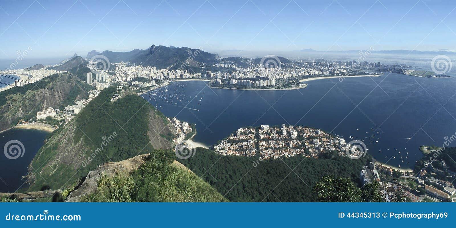 Panoramautsikt av Rio de Janeiro, Brasilien