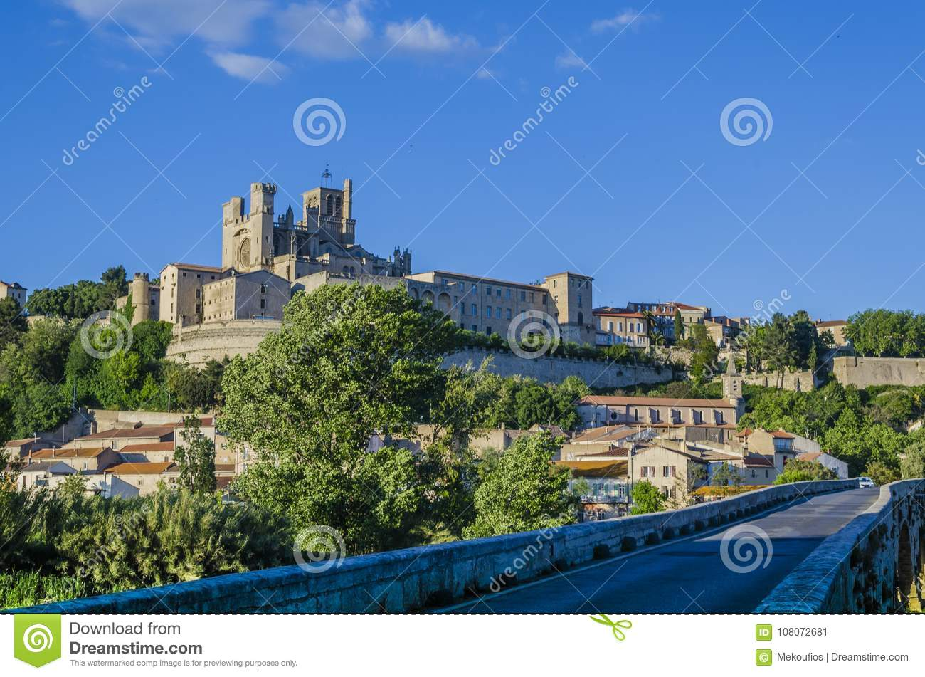 In And Out Beziers panoramic of the city of beziers france stock image - image
