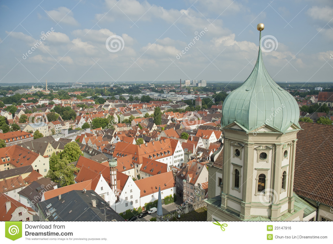panoramic city skyline in augsburg germany royalty free stock image image 23147916. Black Bedroom Furniture Sets. Home Design Ideas