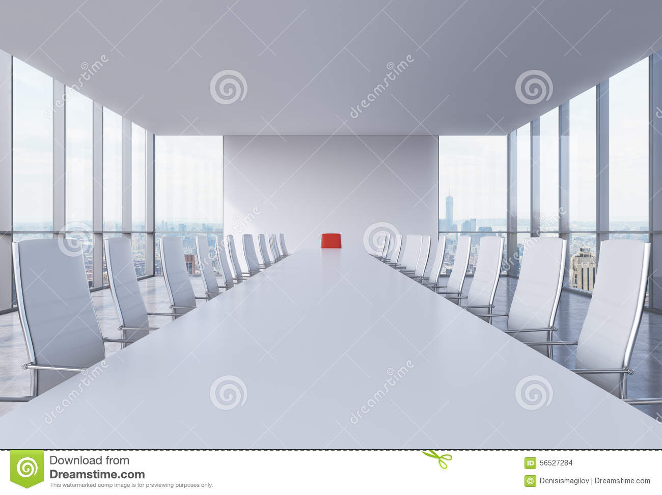 Red conference room chairs - Royalty Free Illustration Download Panoramic Conference Room