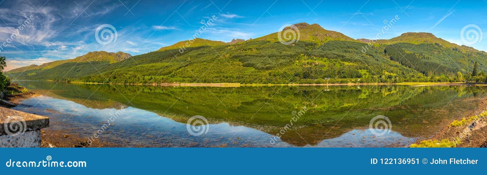 Panoramic day veiw of Loch Long