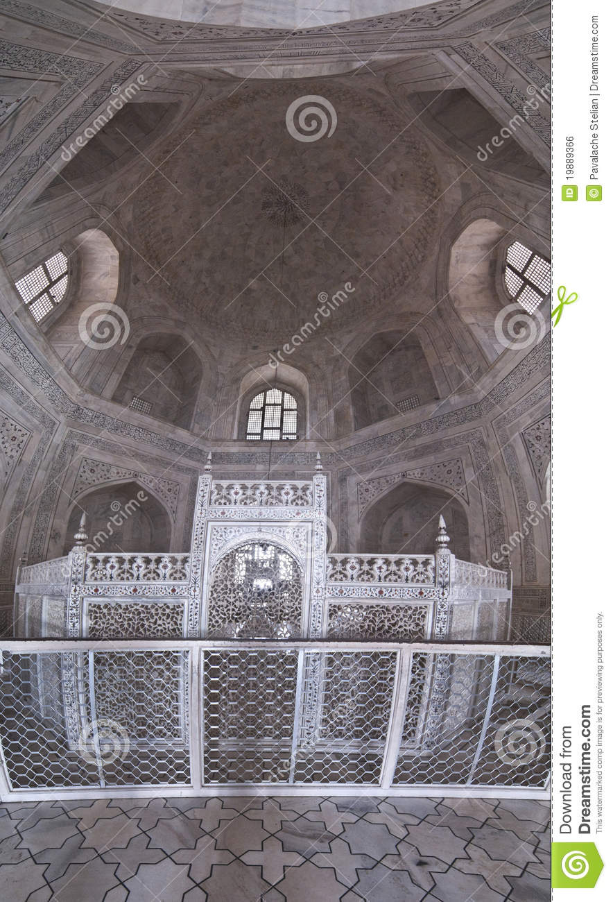 Panoramic Interior Of Taj Mahal Stock Photo Image 19889366