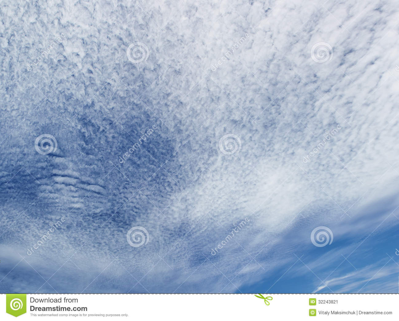 Panoramic Picture Blue Cloudy Sky Stock Image - Image ...