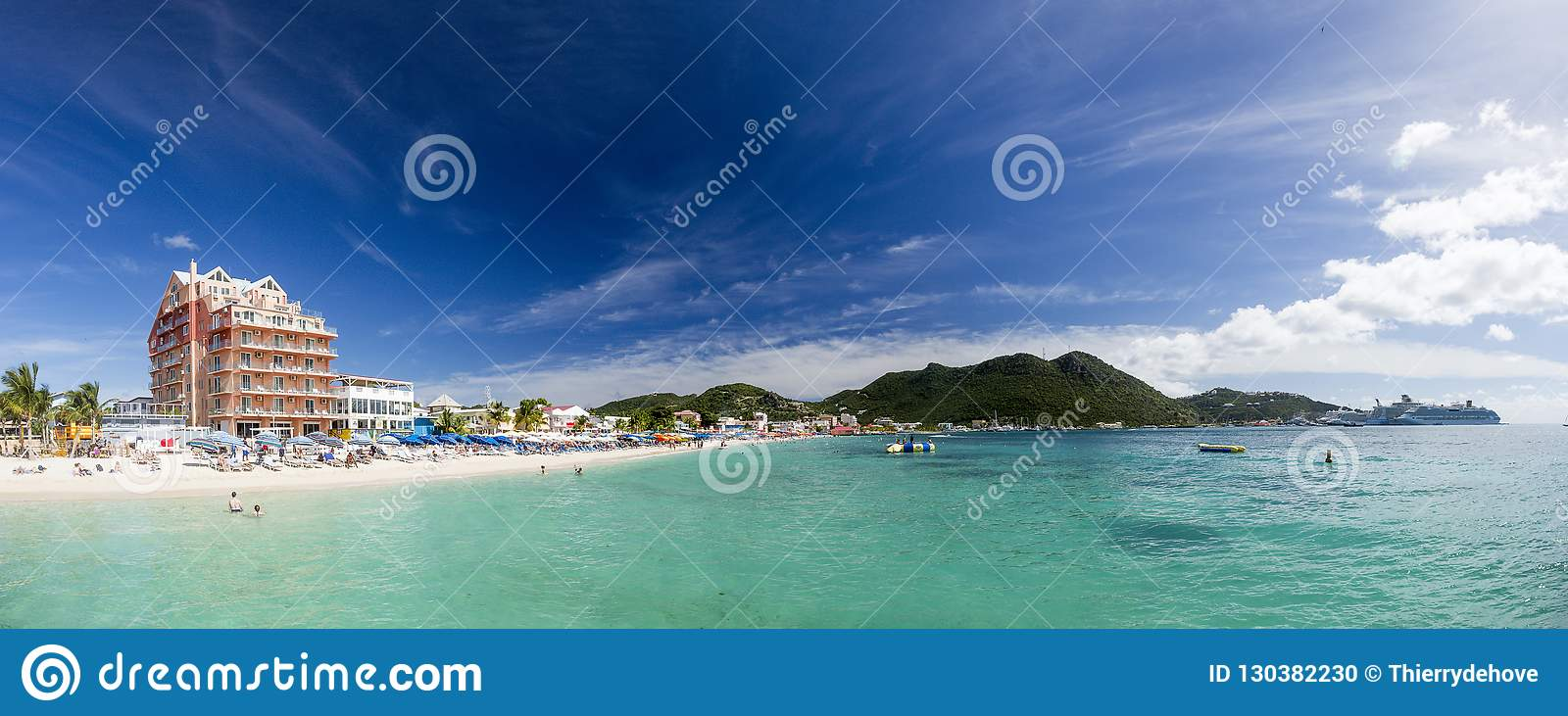 Panoramic of Saint Martin, Sint Maarten: Caribbean Beaches