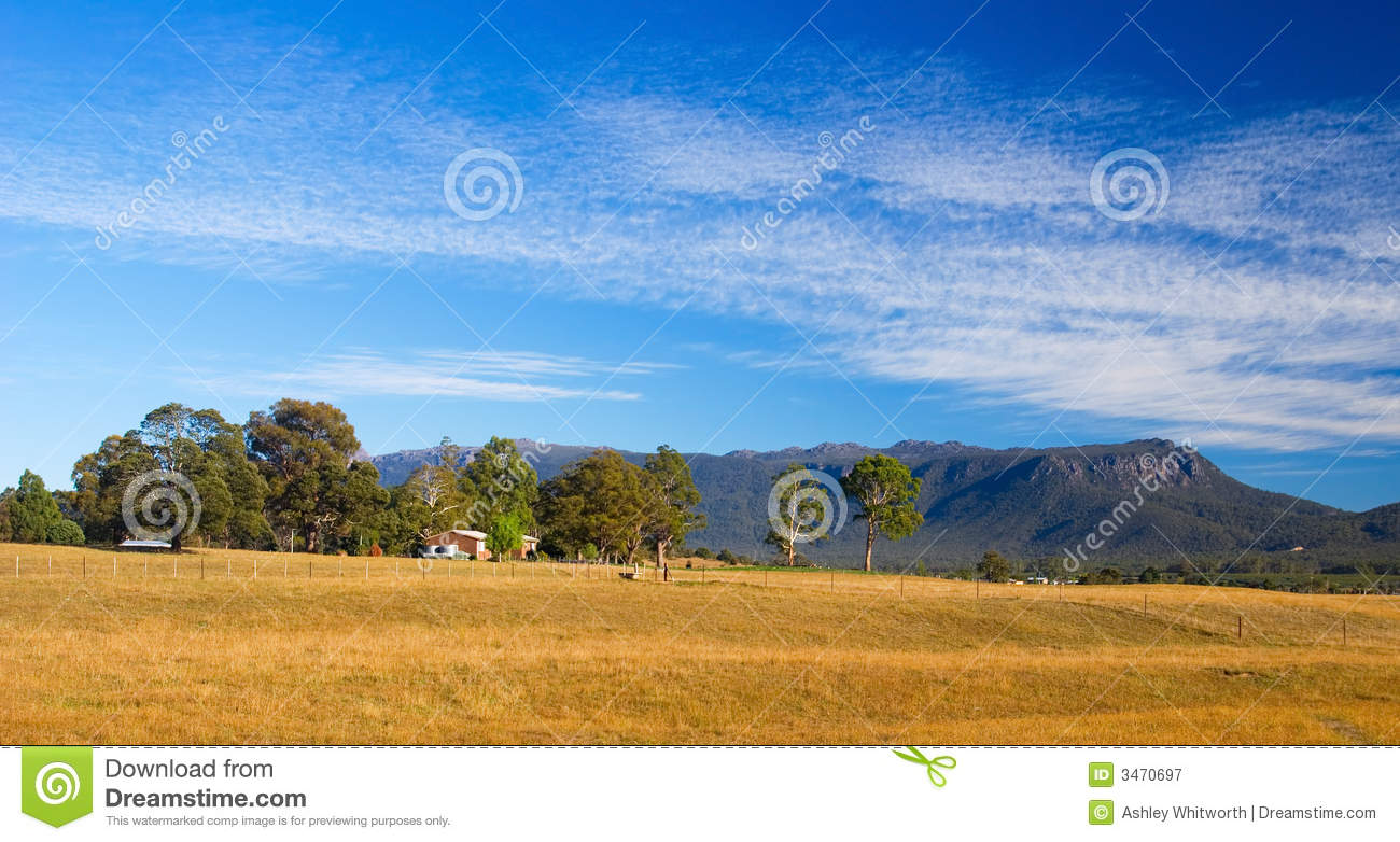 Panoramic tasmanian landscape royalty free stock for Landscaping rocks tasmania