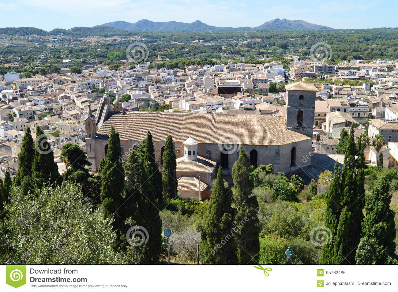 Church and panoramic view of Arta Mallorca