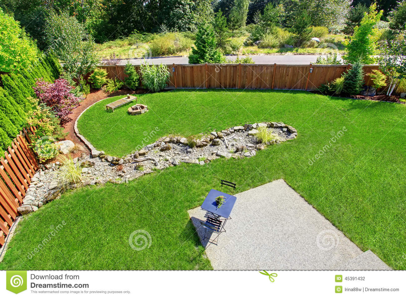 backyard landscape panorama stock photo image 41629626