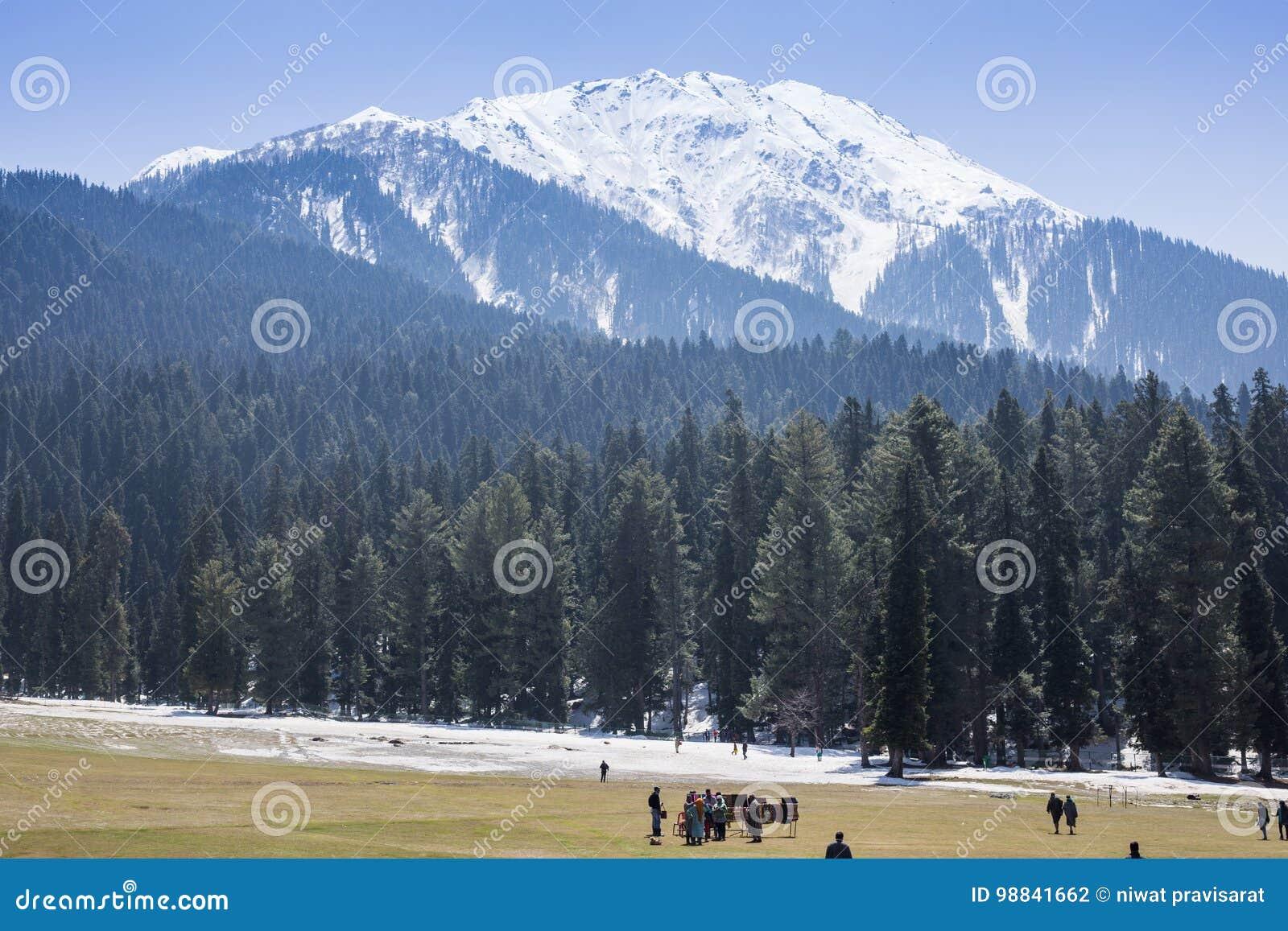 Panoramic view of beautiful mountain landscape small village amo
