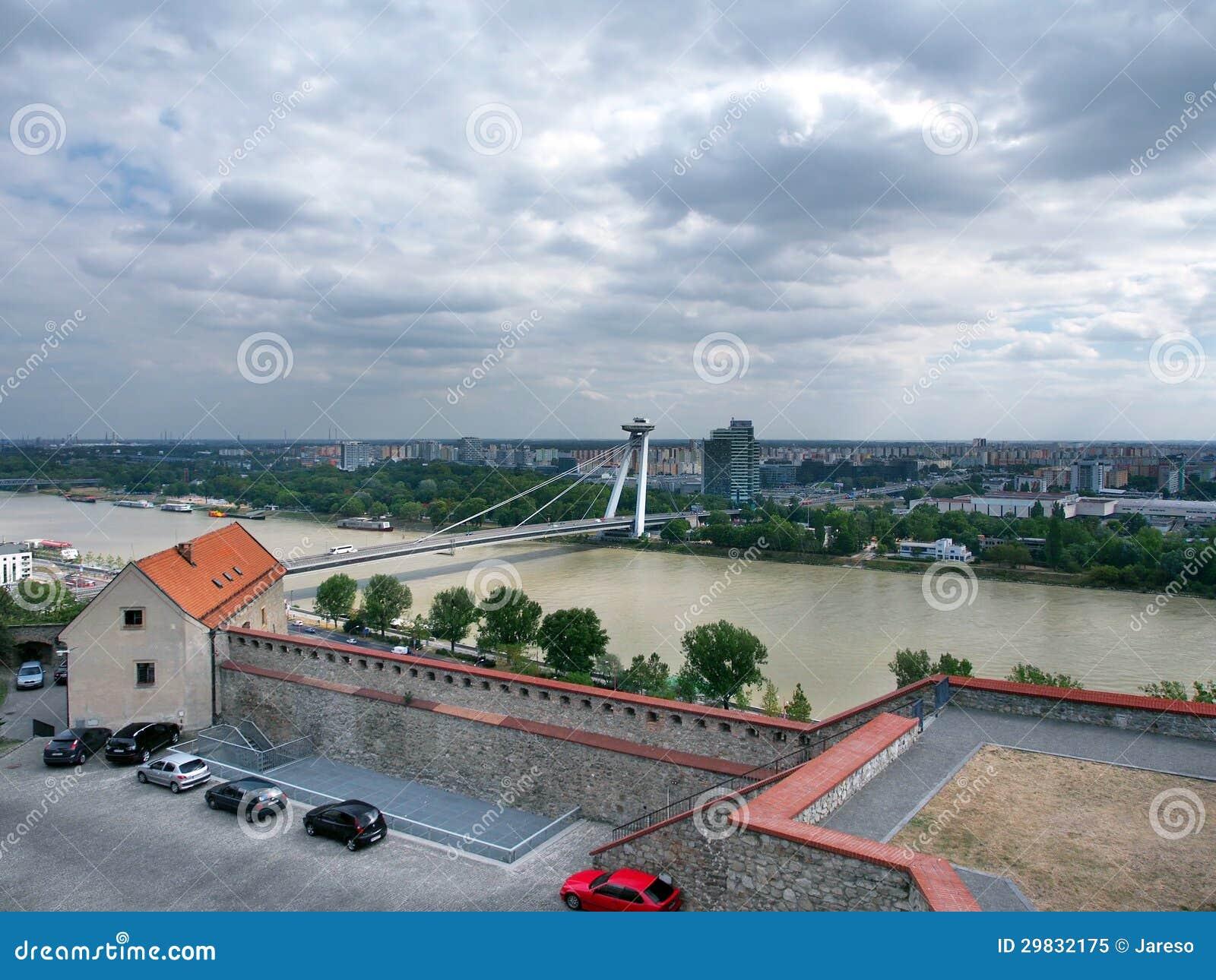 Stormy weather over Bratislava