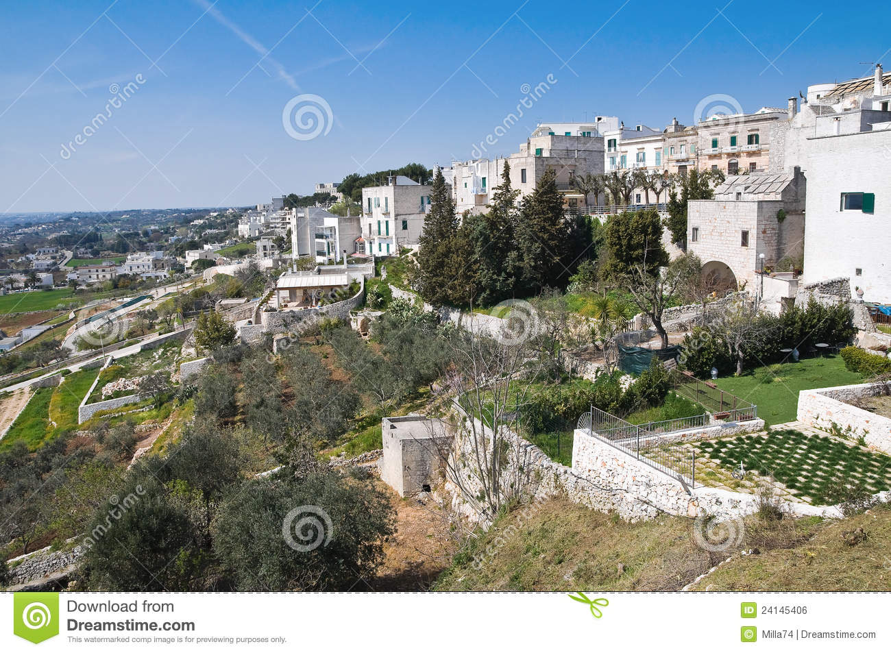 Cisternino Italy  city pictures gallery : Panoramic View Of Cisternino. Puglia. Italy. Royalty Free Stock Image ...