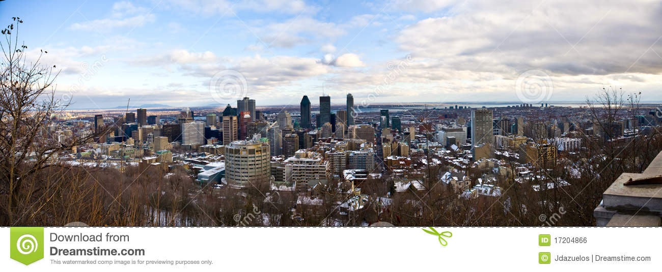 Panoramic view of Downtown Montreal